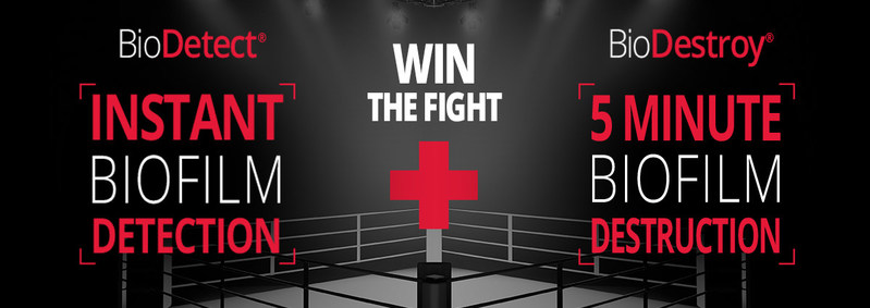 Win the fight against biofilm with BioDetect and BioDestroy (CNW Group/Groupe Sani Marc Inc.)