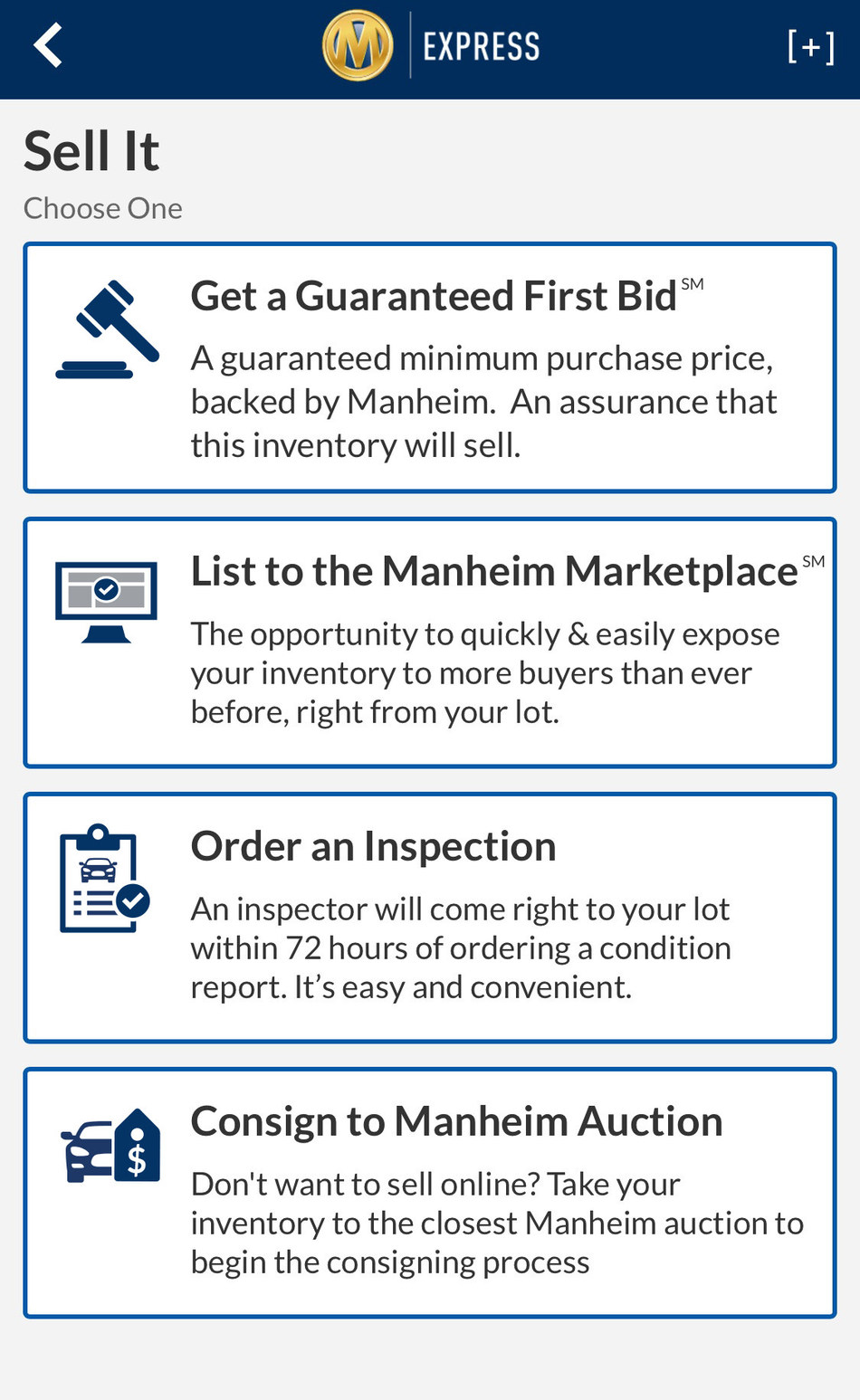Manheim Express: New Mobile Application Offers Dealers Fast, Easy and Self Service Way to List and Sell Inventory in the Manheim Marketplace