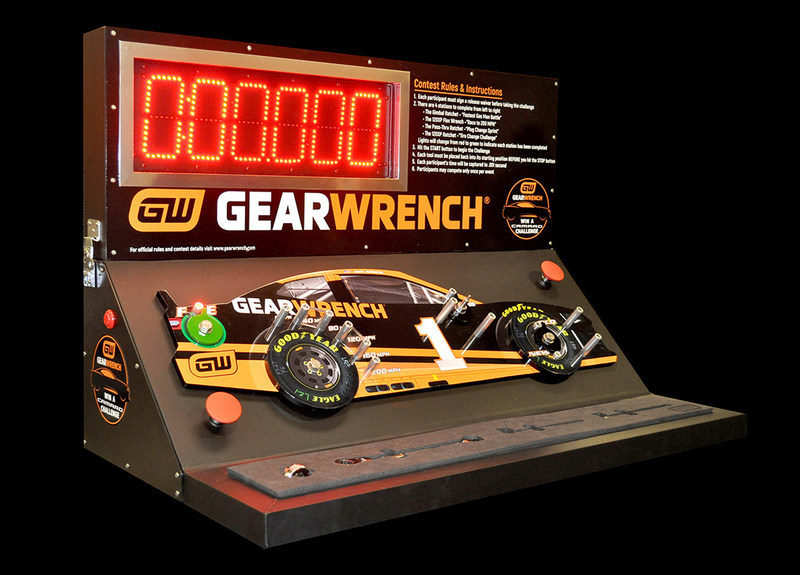 The GEARWRENCH® Win A Camaro Challenge Unit is based on the No. 1 GEARWRENCH Camaro ZL1.