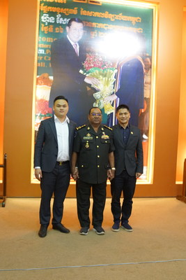 Commander Benxian Xing greeted CBIDA and Chinese entrepreneurs
