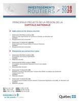 Principaux projets de la région de la Capitale-Nationale (Groupe CNW/Cabinet de la ministre déléguée aux transports)