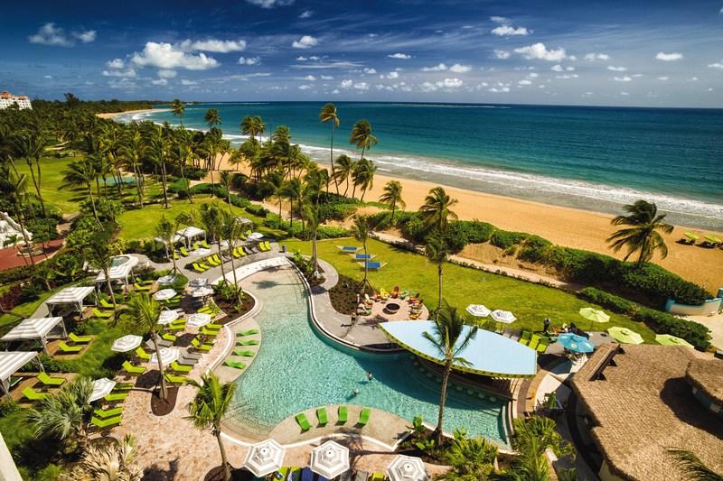 The beachfront Margaritaville Vacation Club Wyndham Rio Mar resort