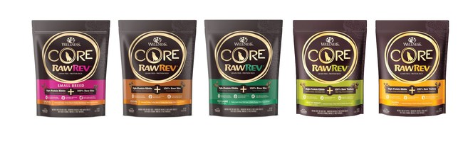 Wellness CORE RawRev Puppy is the latest addition to the Wellness CORE RawRev line, which combines grain-free kibble with raw, freeze-dried meat.