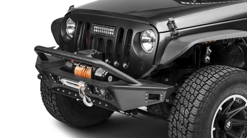 Deegan 38 Front Bumper w-KC LED Fog Lights