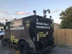 'The Armadillo,' a repurposed armored truck used by the Utica Police Department, equipped with Hikvision surveillance cameras.