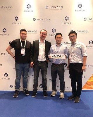 The GOPAX and Monaco Teams at Money20/20 Asia (PRNewsfoto/Monaco)