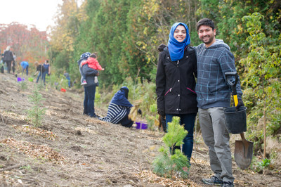 Ontario is one million trees richer, thanks to volunteers across the province who took part in the Green Leaf Challenge. (CNW Group/Forests Ontario)