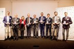 National Winners for Italy awarded in the European Business Awards sponsored by RSM, at Borsa Italiana (PRNewsfoto/European Business Awards)