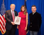 President Trump With the First Lady Melania and John Mappin (PRNewsfoto/CAMELOT CASTLE)