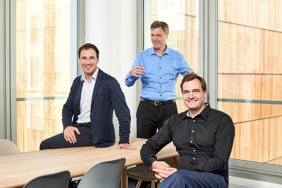 Press Image (from left to right): Boris Lokschin (co-CEO, Spryker ), Fabian Wesner (CTO, Spryker), Alexander Graf (co-CEO, Spryker) Photo credits: Saskia Uppenkamp (PRNewsfoto/Spryker)