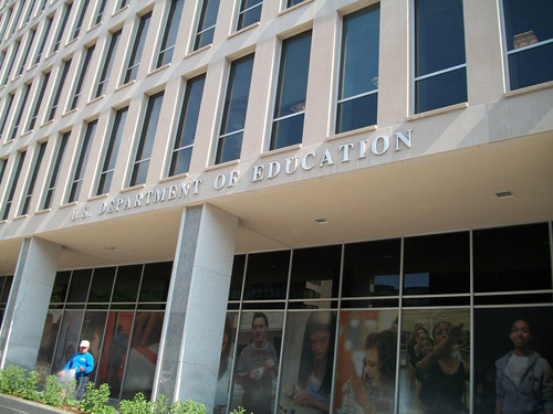 The American Federation of Government Employees has filed an unfair labor practice charge against the Department of Education for throwing out the contract covering the union's 3,900 employees and replacing it with a management edict that strips workers of their previously negotiated rights and protections.