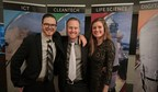 Traction Guest at the 2018 Ready to Rocket celebration. From left to right: Keith Metcalfe (CEO), Cameron Wiebe (CTO) and Carolin Wolf (Product Marketing Manager). (CNW Group/Traction Guest)