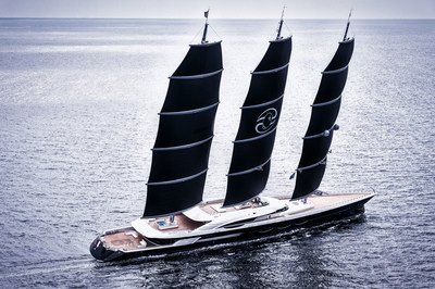 Oceanco's 106.7m (350ft) Black Pearl - the Largest Dynarig Sailing Yacht in the World. (PRNewsfoto/Oceanco)