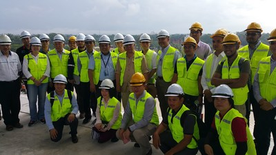 UBM Malaysia, the organiser of ASIAWATER 2018, and the staff of SAJ Ranhill Sdn Bhd during the Technical Site Visit to Johor River Barrage, 8 March 2018.