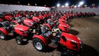 Over 100 MF 6028 - premium compact multi-utility tractors were delivered to farmers at Massey Ferguson's Mega Tractor Delivery event (PRNewsfoto/TAFE - Tractors and Farm Equipme)