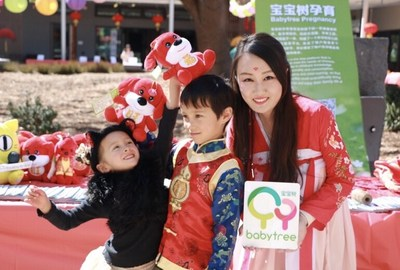 Babytree's envoy of Chinese culture sending out blessings to children on the fair