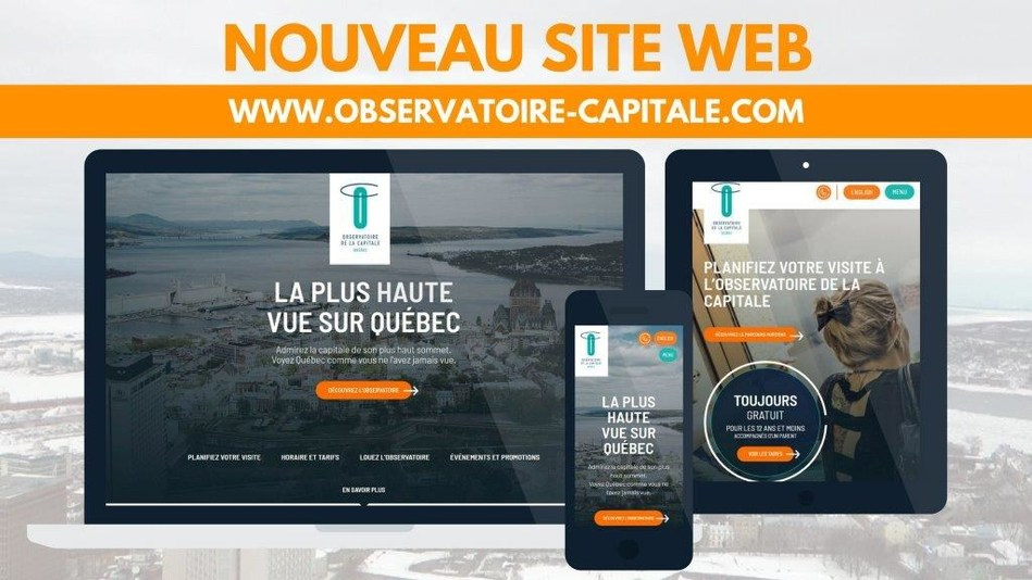 Découvrez le nouveau site Web de l'Observatoire de la Capitale au www.observatoire-capitale.com (Groupe CNW/Commission de la capitale nationale du Québec (CCNQ))