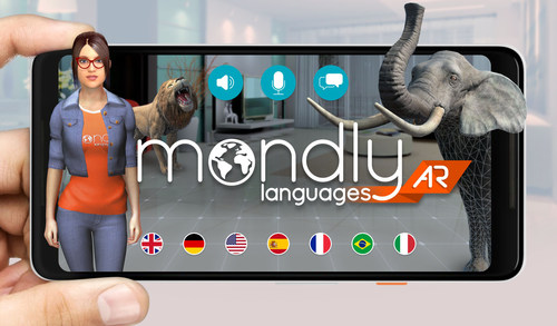 Mondly brings language learning to life in Augmented Reality (PRNewsfoto/Mondly)