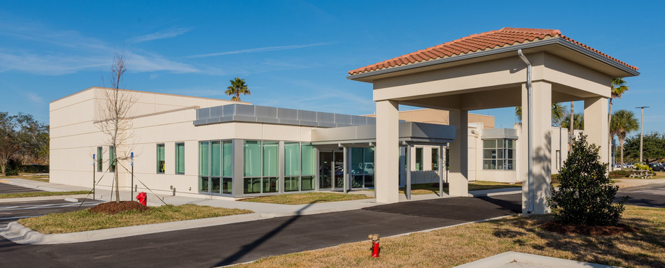 Cancer center recently completed and leased by RAD with its accelerator for Flagler Hospital in St. Augustine, FL.