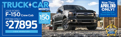 Car shoppers will enjoy incredible spring savings on brand-new Ford cars, trucks and crossovers during Truck and Car Month at Marshal Mize Ford through April 2.