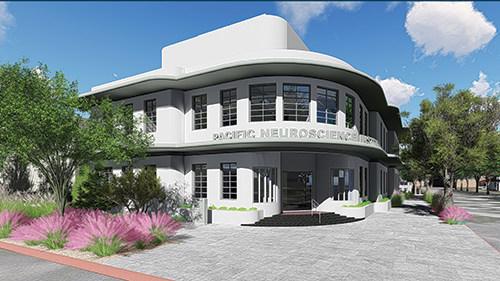 The new Pacific Neuroscience Institute building at 2125 Arizona Ave, Santa Monica, CA
