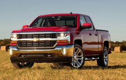 front view of the 2018 Chevy Silverado 1500, which is now available at Oakes Auto Group.