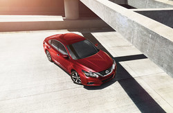 overhead view of the Nissan Altima, which is one of the Nissan models available at Coast to Coast Motors.