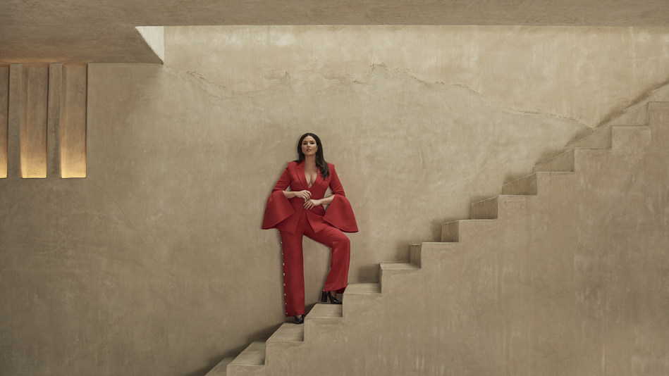 Model Candice Huffine wears Prabal Gurung for 11 Honoré