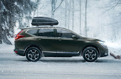 side view of the Honda CR-V, which is one of the Honda models available at Coast to Coast Motors.