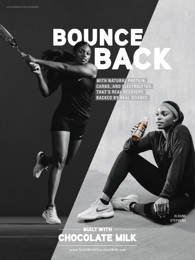U.S. Tennis Champion Sloane Stephens Takes Center Court In 'BUILT WITH CHOCOLATE MILK'™ Campaign