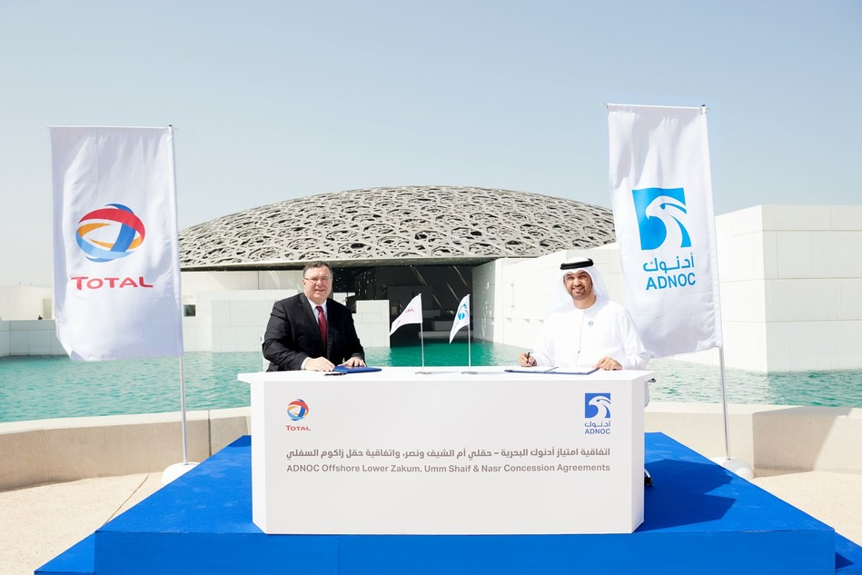 ADNOC Signs Major Offshore Concession Agreements with Total as it Embarks on Giant Gas Cap Development (PRNewsfoto/ADNOC)