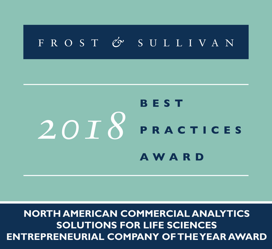 2018 North American Commercial Analytics Solutions for Life Sciences Entrepreneurial Company of the Year Award (PRNewsfoto/Frost & Sullivan)