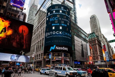 StockChain Lands in the Heart of Global Finance, at New York's Iconic Times Square