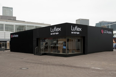 LG Display Luflex Booth at Light+Building 2018 in Frankfurt