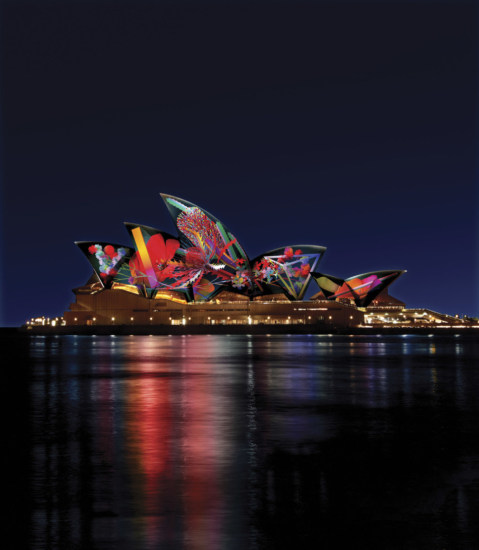 Vivid Sydney 2018 - Lighting of the Sails by Jonathan Zawada
