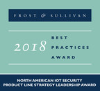 Frost & Sullivan recognizes Trustonic with the 2018 North American Product Line Leadership Award for being a leading provider of embedded security solutions for mobile and IoT devices. (PRNewsfoto/Frost & Sullivan)