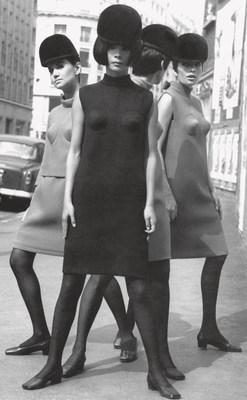 Pierre Cardin, cocktail dresses with conical breasts, detail, 1966. Photo © Archives Pierre Cardin
