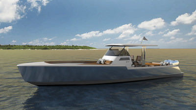 Rambler 38, the first model in a line of new American yachts.