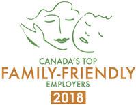 Canada's Top Family-Friendly Employers 2018 (CNW Group/Mediacorp Canada Inc.)