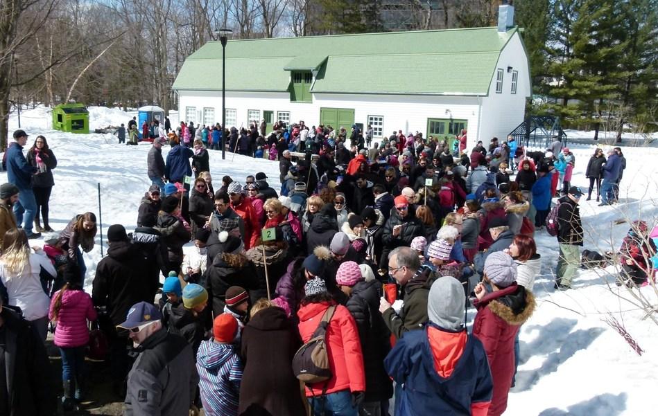La Cabane à sucre du parc débutera ses activités ce samedi 24 mars, au parc du Bois-de-Coulonge, à Québec. Photo : Nicole Morissette (Groupe CNW/Commission de la capitale nationale du Québec (CCNQ))