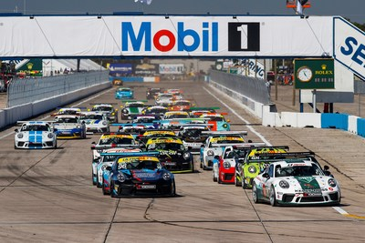 The Ultra 94 Porsche GT3 Cup Challenge Canada by Yokohama began this past weekend with races taking place at the historic Sebring International Raceway in Florida for the first time. (CNW Group/Porsche Cars Canada)