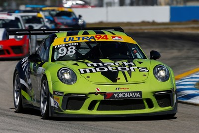 Last year's Ultra 94 Porsche GT3 Cup Challenge Canada by Yokohama Platinum Cup championship runner-up, Zach Robichon, won both races to kick off the 2018 Ultra 94 Porsche GT3 Cup Challenge Canada by Yokohama season. (CNW Group/Porsche Cars Canada)