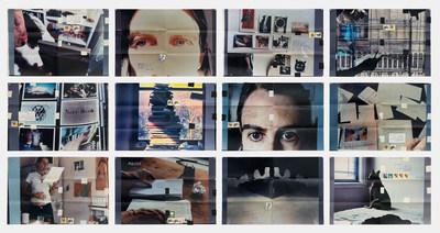 Fifty Minutes Grid, 2006, douze épreuves chromogènes, adhésif, timbres, encre; 30,5 x 44,5 cm chacune; 94 x 137,2 cm l'ensemble — Moyra Davey (Groupe CNW/Scotiabank)