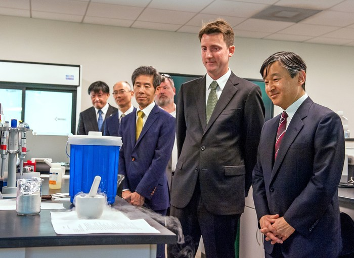 Naruhito, The Crown Prince of Japan, Visits Fairchild Garden to View its One-of-a-Kind Butterfly Garden, Cutting Edge Botany Laboratories and Experiments Involving Edible Space Plants