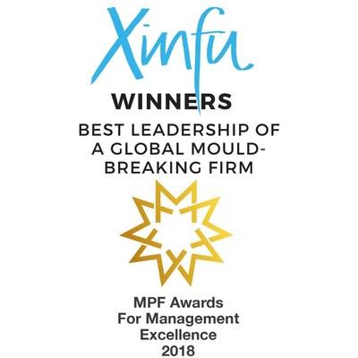 Winners logo image caption: Xinfu Winner MPF Awards Mould-Breaking Firm 2018. (PRNewsfoto/Xinfu)