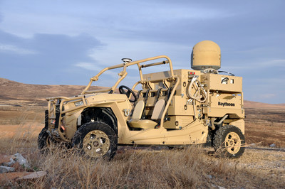 The vehicle-mounted laser combined a solid state laser with an advanced variant of the company's Multi-Spectral Targeting System™ and installed them on a small, all-terrain Polaris militarized vehicle. The system delivers 300 seconds of invisible, precise and instantaneous energy and five hours of intelligence, surveillance and reconnaissance from a single charge. Coupled with a generator, the HEL weapon system provides military members with counter-UAV capabilities and a virtually unlimited magazine.