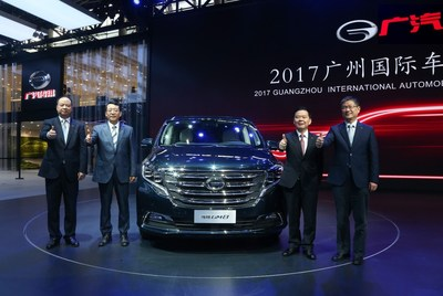 GAC Motor's first minivan GM8 makes its debut at 2017 Guangzhou International Automobile Exhibition