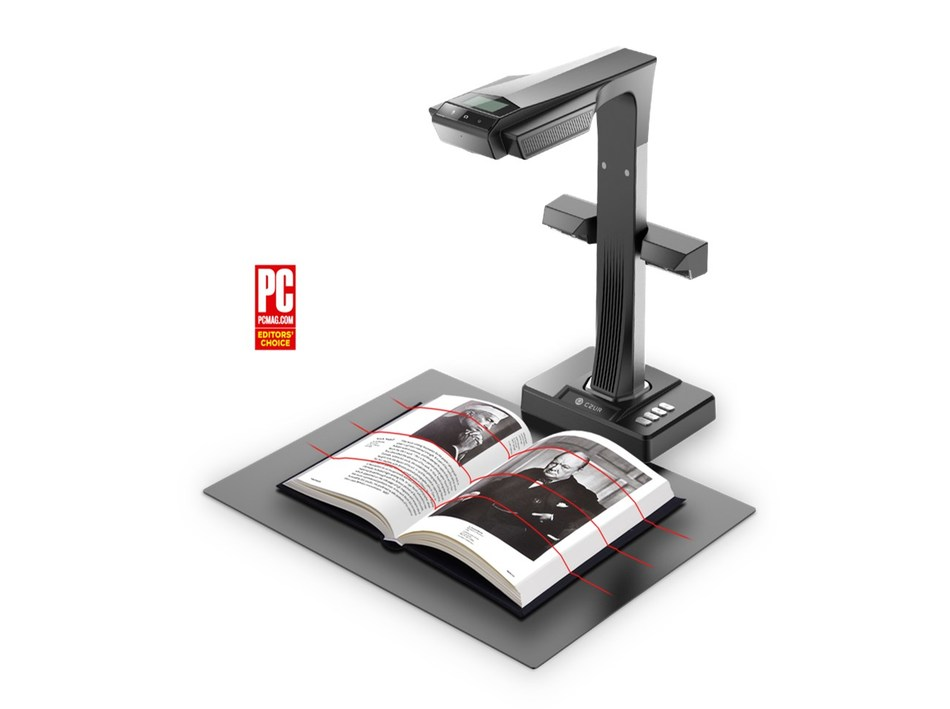 CZUR ET16 Plus Smart Book Scanner Won PC Magazine Editors' Choice