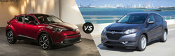 The 2018 Toyota C-HR, now available at Phil Meador Toyota, is compared to the 2018 Honda HR-V.