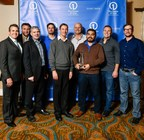 Members of the SunPower by Stellar Solar management team accepting their Residential Dealer of the Year award with SunPower executives.